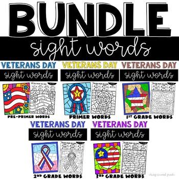 Veterans Day Sight Words