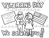 Veterans Day Single Digit Multiplication Coloring Printable Worksheet