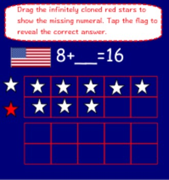 Veteran's Day Smart Board Emergent Reading, Writing, & Math for the Smart Board