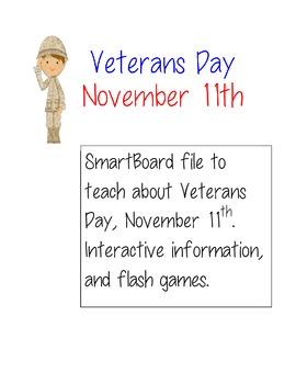 Veterans Day SmartBoard Interactive Lesson