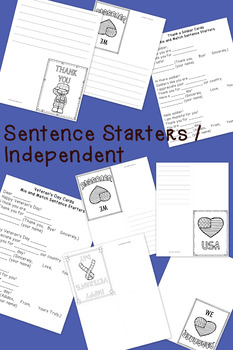 Veterans Day / Soldier Cards: Differentiated for ALL your Special Ed Students