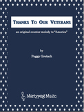 Veterans Day Song/Thanks To Our Veterans/ Partner Song