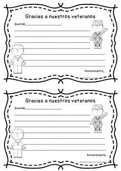 Veterans Day (Spanish) Carta a un Veterano