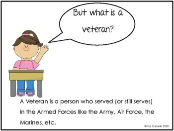 Veterans Day Story Writing Vocabulary Spanish English