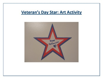 Veteran's Day Star: Art Activity