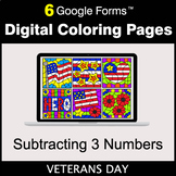 Veterans Day: Subtracting 3 Numbers - Google Forms | Digit