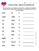 Veterans Day Syllable Match