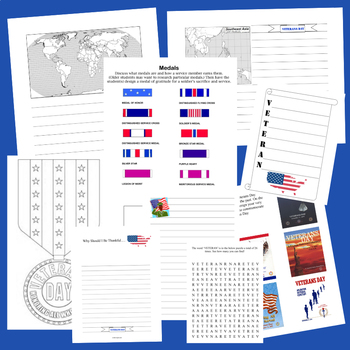 Veterans Day Teaching Resources (Vocabulary, Projects, Crafts and More)