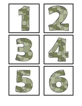 Veteran's Day Ten Frame and Base Ten Number Match