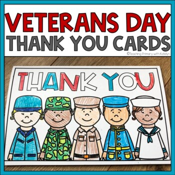 Veterans Day Thank You Card | Printable Template | TpT
