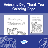 FREE Veterans Day Thank You Coloring Page