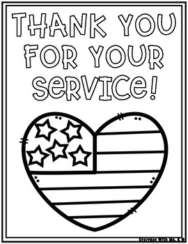 Veterans Day Memorial Day Thank You For Your Service Cards ...