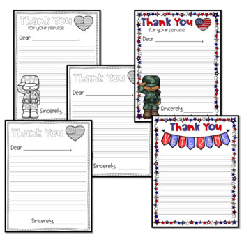 Veterans Day Thank You Letter