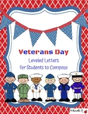 Veterans Day Thank You Letters: Leveled Letters for Studen