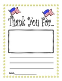 Veteran's Day Thank You Note