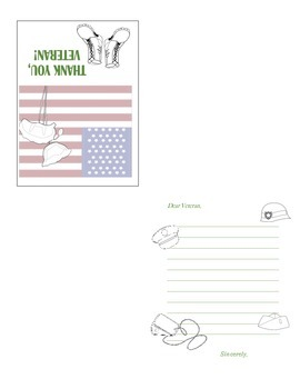 Veterans Day Thank You Note