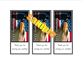 "Veterans Day ""Thank-You"" bookmark"