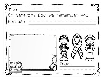 Veterans Day Thank you- Can, Have, Are- and Everyday Heroes Writing