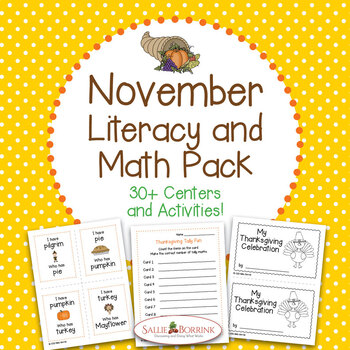 Thanksgiving BUNDLE for Kindergarten and First Grade