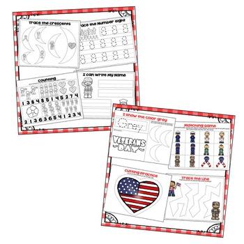 Veterans Day Theme Preschool Bundle