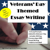 Veterans' Day Themed Essay Writing, w Rubrics & Printables