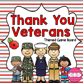 Veterans / Remembrance Day Themed Game Board