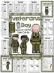 Veterans Day Noun or Verb Task Cards, Recording Sheets and