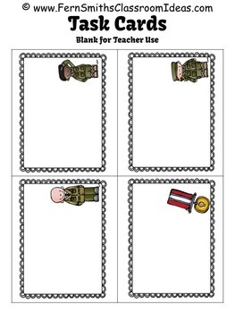 Veterans Day Task Cards for Noun or Verb? Adjective or Adverb? Task Card Bundle