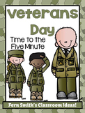 Veterans Day Themed Time to the Five Minute Center Games Freebie