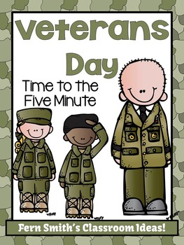 FREE Veterans Day Themed Time to the Five Minute Center Games