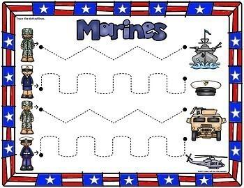 Veterans Day Tracing Printables