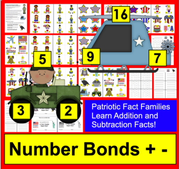 Veterans' Day Math Centers: 102 Triangle Fact Families - Differentiate!