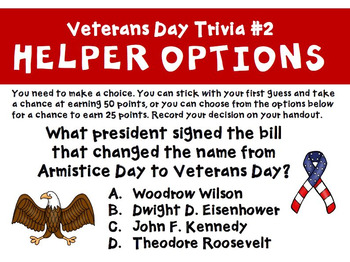 Veterans Day Trivia and Facts Slideshow Activity
