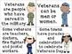 Veterans Day True & False Pocket Chart & Writing Activity