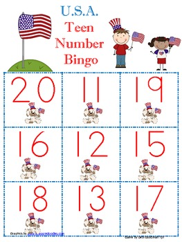 Veteran's Day-USA 11-20 bingo game