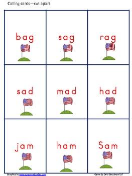 Veterans' Day-USA short A Bingo Game