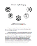 Veterans Day Unit - Nonfiction Texts, Reading Logs, Research Essay