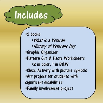 Veterans Day Unit for Special Education