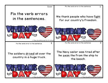 Veterans Day Verbs Pack