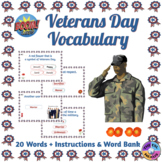 Veterans Day Vocabulary Boom Cards™ (Distance Learning)