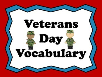 Veterans Day Vocabulary PowerPoint