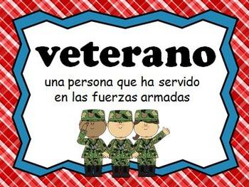 Vocabulario del Dia de los Veteranos - PowerPoint