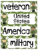 Veterans Day Vocabulary Word Cards