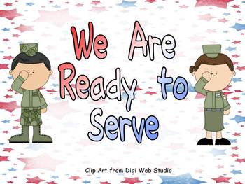 Veterans Day- We Are Ready to Serve Shared Reading PowerPoint Kindergarten