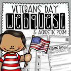 Veterans Day Reading & Writing Activity {Webquest & Acrostic Poem}