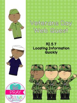 Veterans Day Web Quest RI.5.7