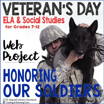 Veterans Day Soldiers Web Project Note-taking How-to Middle, High School