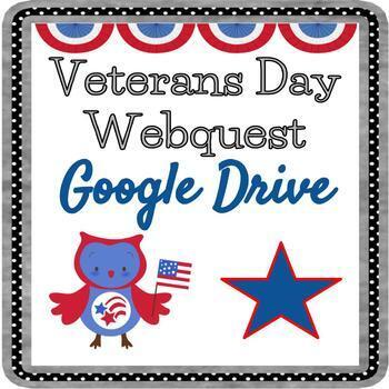 Veterans Day Webquest - Fully Editable in Google Drive!