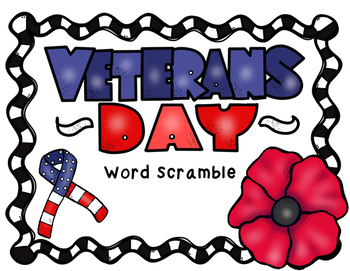 Veterans Day Word Scramble
