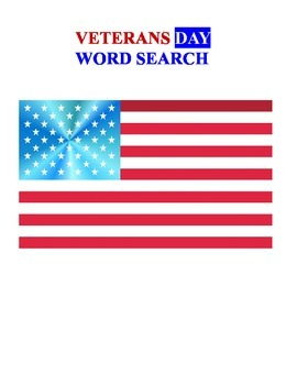 Veterans Day Word Search